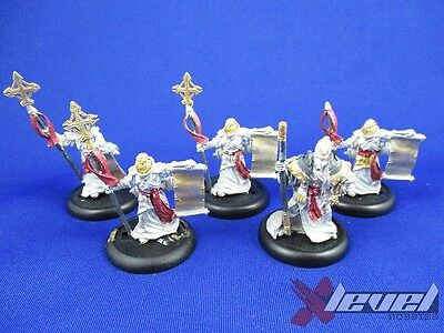 Choir of Menoth [x5] Protectorate of Menoth [Warmachine] Partial Painted