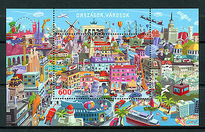 Hungary 2016 MNH Countries & Cities 1v M/S Architecture Buildings Stamps