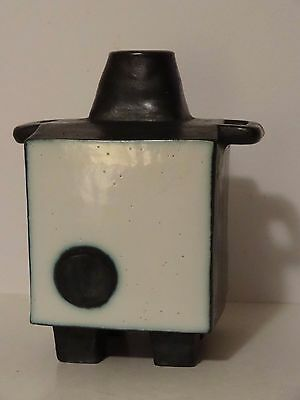 Rare & Unusual Troika Pottery Cube Shaped Vessel On Four Feet Incense Burner