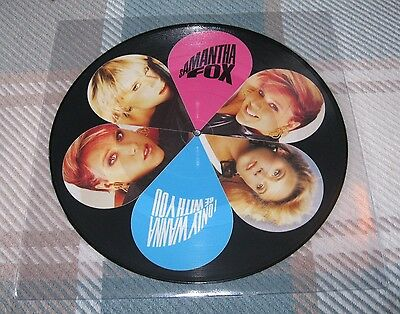 Samantha Fox - I Only Wanna Be With You - Scarce Vinyl Picture Disc - Sam