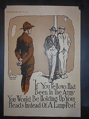 United States Army WWI 1918 Patriotic Poster By Gordon Grant Signed Lithograph