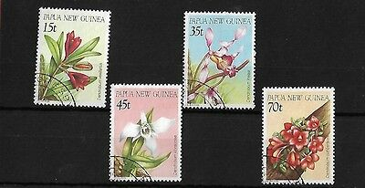 Papua New Guinea 1986 Orchids Fine Used, Sg531/4