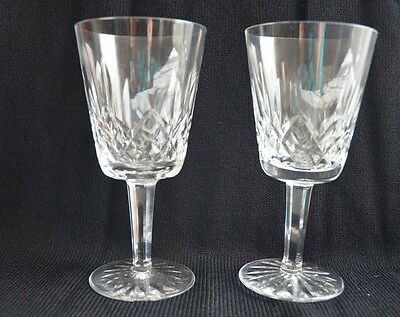 Waterford Crystal Lismore Water Goblets Glasses, Set of 2, Ireland