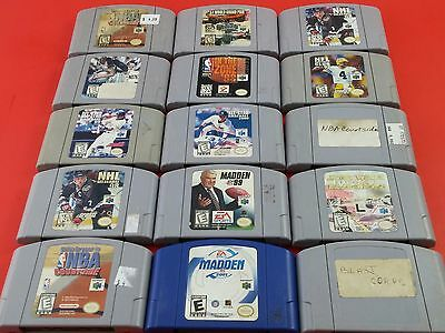 Wholesale lot of 30x N64 Nintendo 64 Games [Cartridges Only] Tested & Working