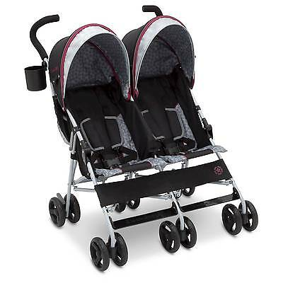 J is for Jeep Scout Double Stroller - Lunar Burgundy