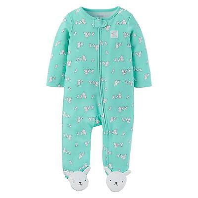 Baby Girls' Cotton Bunnies Sleep N Play Teal - Just One You™ Made by Car...