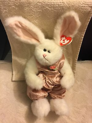 Ty Attic Treasures Sara Bunny Rabbit MWMT Plush Stuffed Animal Toy