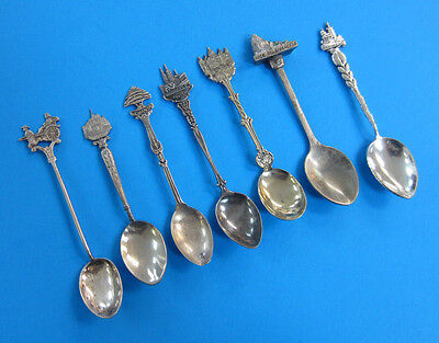 7 Silver Plated Souvenir Spoon