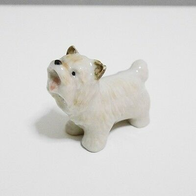 Tiny Cairn Terrier Dog Pet Animal Ceramic Figurine Home Decor Collectible Gift