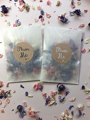 Glassine Bags & Throw Me Stickers Rose Petal Biodegradable Confetti Vintage