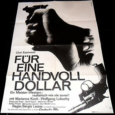 1964 A Fistful Of Dollars ORIGINAL German 65' 1sh A1 POSTER Sergio Leone Style A