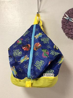 Disney Pixar Saudia Skyteam Inside Out carry on backpack blue yellow new H41