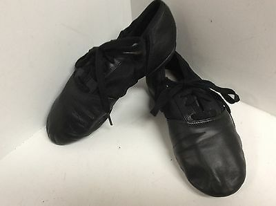 Capezio womens dance jazz oxford shoes split sole size 5.5 M leather black F54