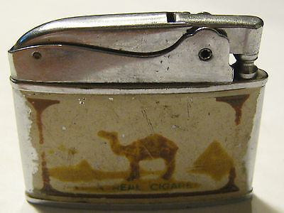 Vintage Zenith Camel Lighter Sparking
