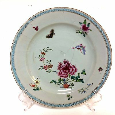 "18th Chinese Export Porcelain Plate 9"" W. Damage"