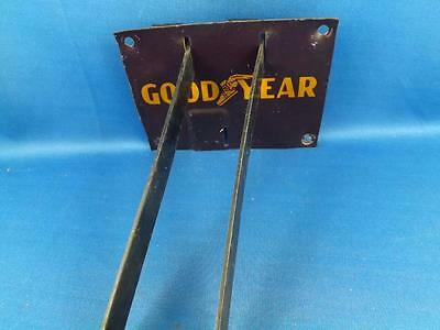 Goodyear Tires Rack Stand Display Metal Vintage Sign Oil Gas Station Advertising