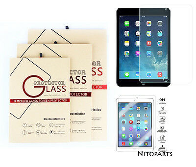 Premium Tempered Glass Screen Protector for iPhone 5-Xs Max iPad 2 3 4 Air Mini