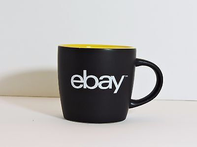 8 Oz EBAY Black & Bright Yellow Ceramic Mug/Cup - Collector's Item or Great Gift