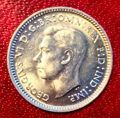 1943-D Australia 3 Pence Silver Coin Uncirculated