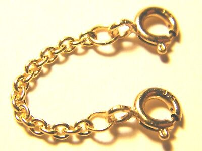 9ct Yellow Gold Heavy Safety Extension Chain 4 Bracelet- Necklace Extender 4.5cm