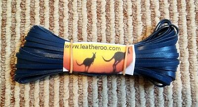 "Kangaroo Lace Royal Blue Kangaroo Leather Lacing (3.0mm 1/8"") 10 meter hank"