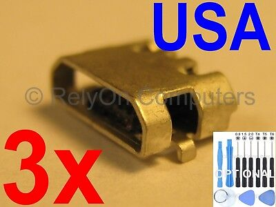 3x Micro USB Charging Port Sync For Amazon Kindle Fire 7 5th SV98LN Tablet USA !