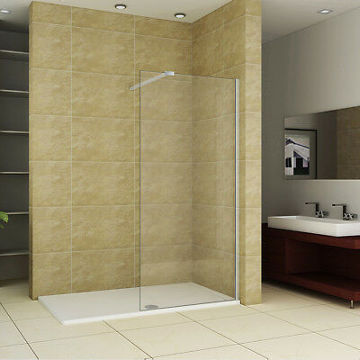Aica Shower Enclosure Wet Room Screen Cubicle Panel and 30mm Tray 8mm NANO Glass