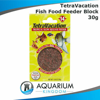 Tetra TetraVacation 14 Day Fish Feeder Block 30g Vacation Holiday Aquarium Food