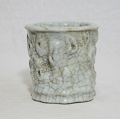Chinese  Celadon  Crackle  Porcelain  Pen  Holder  With  Mark    M738