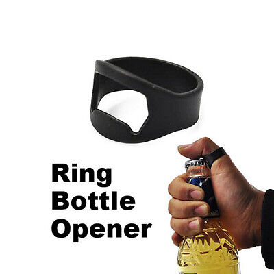 Unique Stainless Steel Finger Ring Bottle Opener Beer Bar Tool OO2