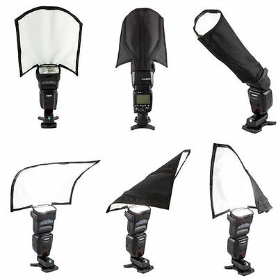 New Foldable Speedlight Reflector Snoot Sealed Flash Softbox Diffuser Bender HOT