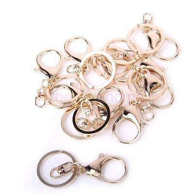 10Pcs Golden Large Lobster Duckle Decorative Fixed Role Alloy Key Fob Key Ring