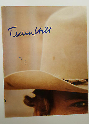 Terence Hill Autogramm ca 56x43cm Poster inPerson signed