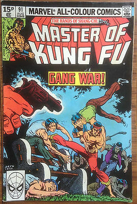 Master of Kung-Fu #91 Marvel Comic Book