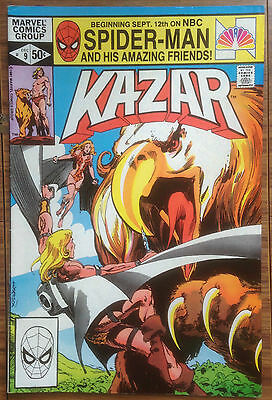 Kazar #9 Marvel Comic Book