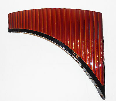 Left Handed Pan Flute 25 Pipes Painted  Bamboo Tunable - Item In Usa -