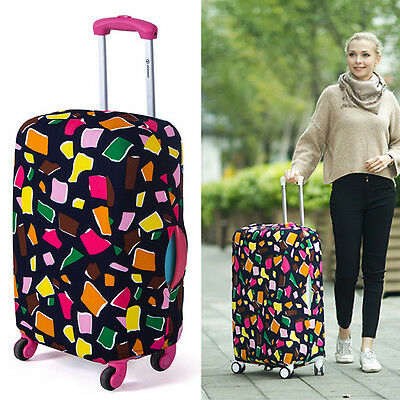 """Unique Travel Luggage Cover Elastic Dust-proof Suitcase Protector Suits 18""""-28"""""""
