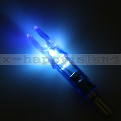 6x Archery LED Lighted Nocks 6.2mm Crossbow Hunting Carbon Arrows Nock Tail BLUE