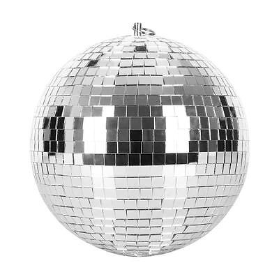 """8"""" Mirror Disco Ball Silver Christmas Party Decoration 8 Inch Dance Floor Effect"""