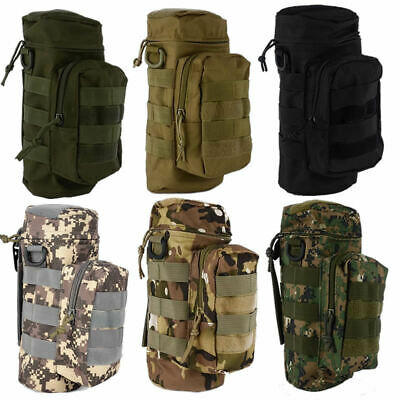Mens Women Military Tactical Molle Camping Hiking Water Bottle Bag Pouch Carrier