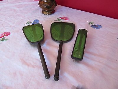 Vintage Hand Mirror, Brush & Clothes Brush - Hill Bros Raymoloid