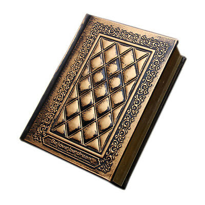 Vintage Retro Notebooks Embossed Plaid PU Leather Framed Note Book Agenda Diary