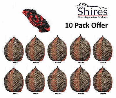Shires 10 Deluxe Extra Strong Small Holed Haynet Haylage Net Large Holds 9.5kg