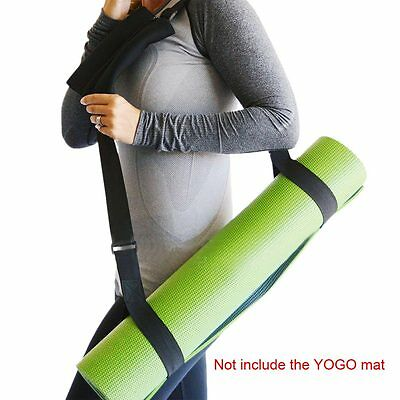 Durable Yoga Mat Sling Strap Carry W/Pocket For Fitness Stretching Exercise