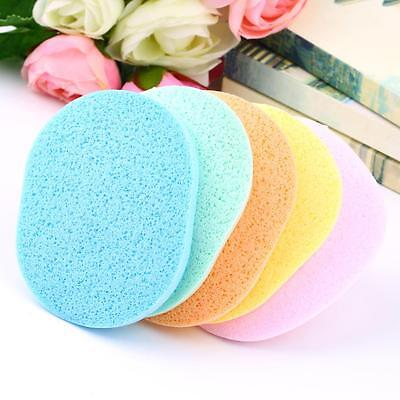 6pcs Face Facial Wash Pad Makeup Remover Cleaning Sponge Puff Exfoliator Scrub