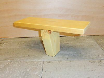 Hand Crafted Meditation 'T' Stool / Bench - Solid Pine by Marcher Crafts