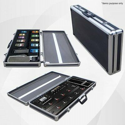 NEW Large Size Aluminium Pedal Board / Road Case - 10 Pedals, Removable Lid