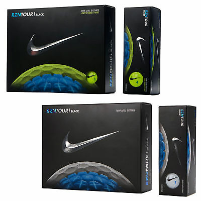 NEW Nike RZN Tour Black Golf Balls - Choose Yellow or White - Dozen Qty Discount