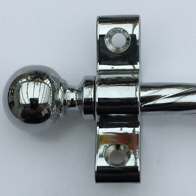 Polished Chrome Rope Stair Rods 3/8 Inch Ball Finial (R03Rob)