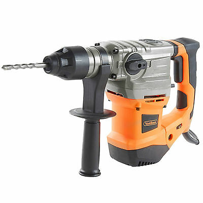 VonHaus 1500W Rotary SDS Drill Impact Hammer with SDS Plus Chuck and Chisel Bits